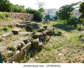 Ruins of Electra's gates of ancient Thiva, or Thebes, in Greece