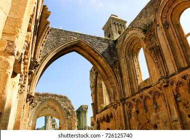 Ruins of Glastonbury Abbey (Glastonbury, Somerset, UK)