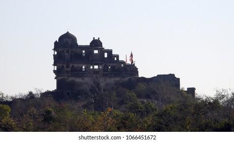 Ruins of Gora Badal Palace in Chittorgarh fort in Rajasthan, India.