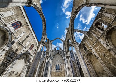 Ruins of the Gothic Church of Our Lady of Mount Carmel (Igreja do Carmo), Lisbon, Portugal