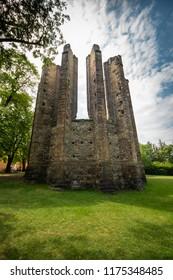 Ruins of gothic church in Panensky Tynec, Czech Republic.