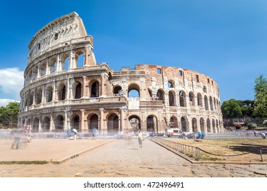 Ruins of great, old Coloseum, Rome, Italy