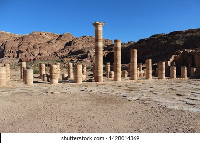 Ruins of the Great Temple of Petra, Jordan