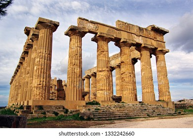 Ruins of the Greek Temple of Hera at Selnunte, Sicily