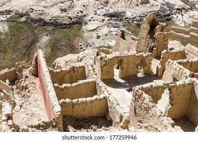 The ruins of Guge Kingdom, an ancient kingdom that once existed in the far of tibet