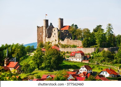 Ruins of Hanstein Castle in Thuringia, Germany