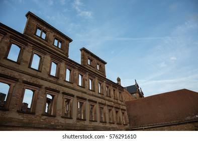Ruins of the Heidelberg Castle at dawn