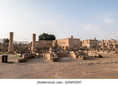 The ruins of Hisham's Palace and early Islamic site near Jericho, West Bank, Palestinian Territories of Israel.