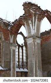 ruins of a historic church
