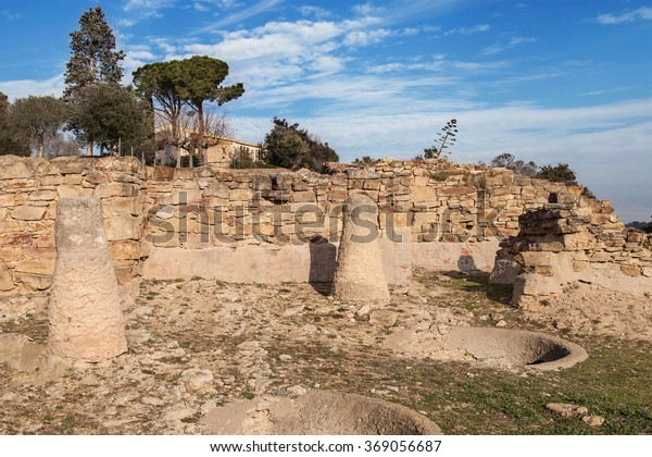 Ruins of the iberian settlement of Ullastret in Girona, Catalonia.