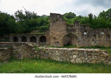 Ruins of Ikalto Academy in Ikalto Monastery, Georgia