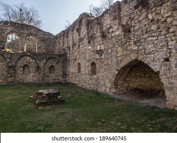 Ruins of the Ikalto Academy next to the Ikalto monastery. The academy was founded during king David the Builder by Arsen Ikaltoeli in the early 12th century.
