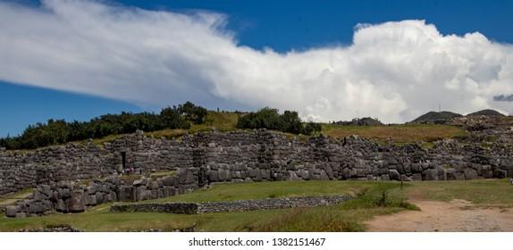 Ruins of the Inca Complex Known as Sacsayhuaman Near Cusco, Peru
