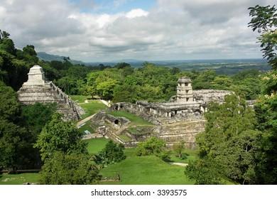 Ruins in jungle, Palenque