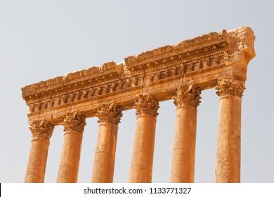 Ruins of Jupiter temple, Baalbeck, Lebanon