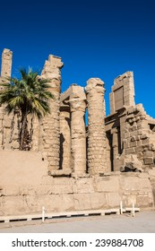 Ruins of the Karnak temple, Luxor, Egypt (Ancient Thebes with its Necropolis).
