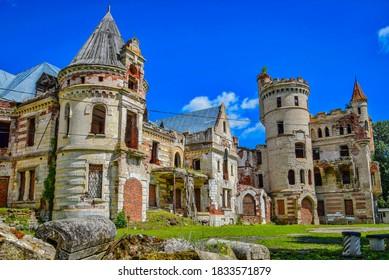 Ruins of Khrapovitsky Castle, Vladimir region of Russia