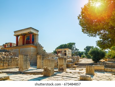 Ruins of the Knossos Palace at Crete, Greece