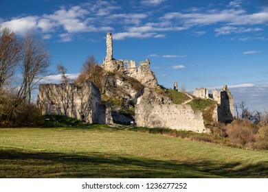 Ruins of Korlatko castle, Slovakia. Region Zahorie
