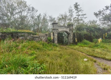 Ruins of Li Dong Fort under Foggy Weather: A Japanese-built Fort at the Hilltop of Mt. Li Dong, Hsinchu, Taiwan