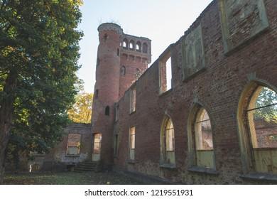 ruins manor house in Prosna - masuria Poland