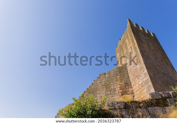 Ruins of Marialva historical village and castle in Meda, Portugal