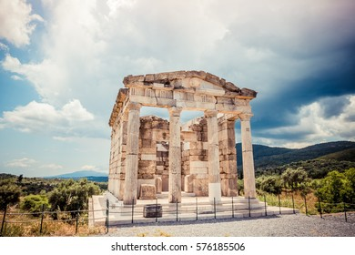ruins of Mausoleum in ancient Messina, Greece