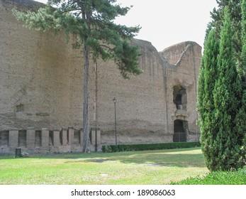 Ruins of Mausoleum of Augustus in Rome Italy