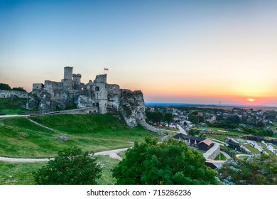 Ruins of medieval castle, Ogrodzieniec Castle, Poland