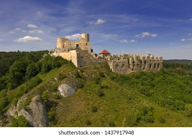 The ruins of the medieval castle Rabsztyn, located near Krakow, southern Poland. It belongs to castles end fortresses: Eagles' Nests Trail
