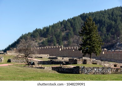 Ruins of the medieval fortress Krakra from the period of First Bulgarian Empire near city of Pernik, Bulgaria