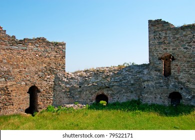 Ruins of medieval fortress Ram on Danube river in Serbia