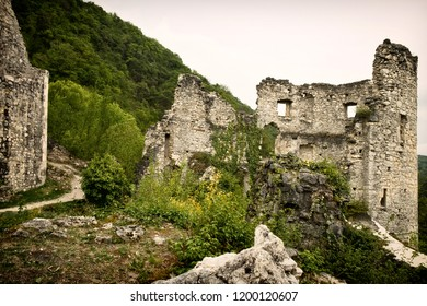 The ruins of medieval fortress in Samobor town, Croatia