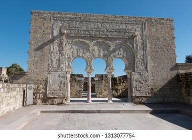 Ruins of Madīnat al-Zahrā or Medina Azahara, medieval palatial city near Cordoba, Andalusia, Spain