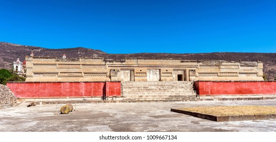 Ruins in Mitla near Oaxaca city. The most important of the Zapotec culture centers in Mexico
