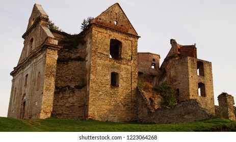 Ruins of monastery in Zagórz in Poland
