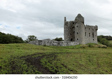 The Ruins of the Monea Castle in Ireland