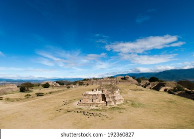 A ruins of Monte Alban in Mexico