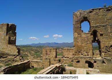 Ruins of Montearagon castle, Aragon, Spain