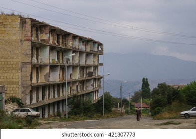 The ruins of the mosque in Shoushi  city, Nagorno-Karabakh republic. Azerbaijan - Armenia war result