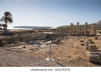 Ruins and museum of a Roman city, Baelo Claudia, Cadiz, Spain on October 10, 2017