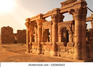 Ruins of Naqa Meroe, in ancient Kush, Sudan, Africa.