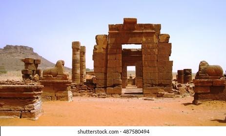 Ruins of Naqa Meroe, ancient Kush, Sudan