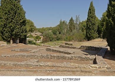 Ruins in nature of Italica, Roman city in the province of Hispania Baetica.