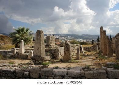 Ruins near Crusader Castle of Byblos, Lebanon