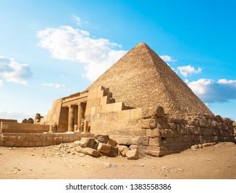 Ruins near the pyramids of Giza. Egypt