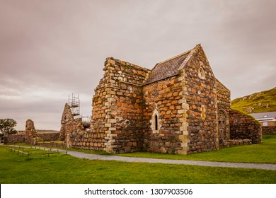 Ruins of the nunnery under restoration on the island of Iona