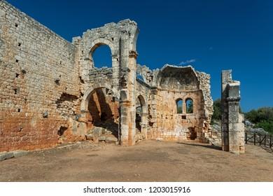Ruins of Olba Ancient City ( Kanlidivane ) in Mersin city, Turkey