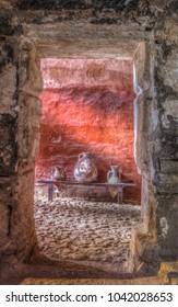 Ruins of the old Arab Baths (Banys Arabs), old city, Palma de Mallorca (Majorca), Balearic Islands, Spain