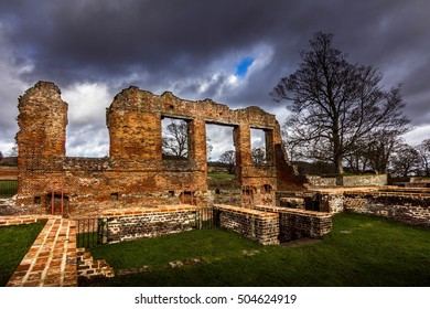 Ruins Of An Old Castle At Bradgate Park, Leicestershire